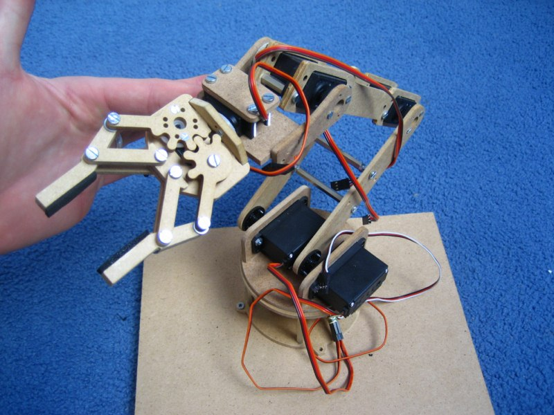 Servo grippers and robotic arm using arduino
