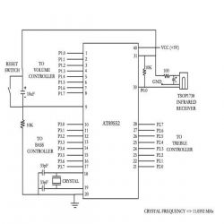 Circuit Diagram of  Controlling Audio Volume & Tone with a Remote Control