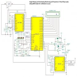Single Phasing and Overheating Protection circuit