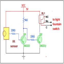 Circuit Diagram For Make Remote Operated Light Fountain