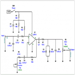 Circuit Diagram of Distortion Pedal