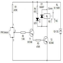 Pir sensor based alarm engineersgarage circuit diagram pir sensor alarm ccuart Gallery