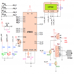 Microcontroller based Sequential Timer for DC Motor control: Circuit Diagram