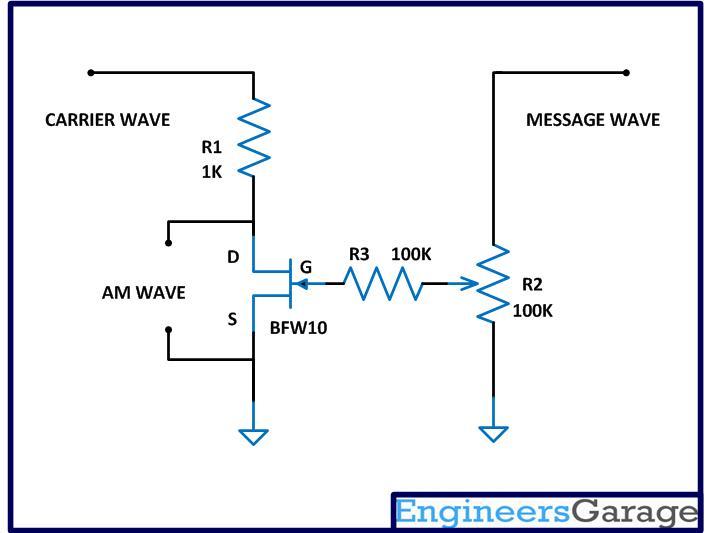 Envelope detection based am demodulation circuit diagram circuit diagram of modified am modulator publicscrutiny Gallery
