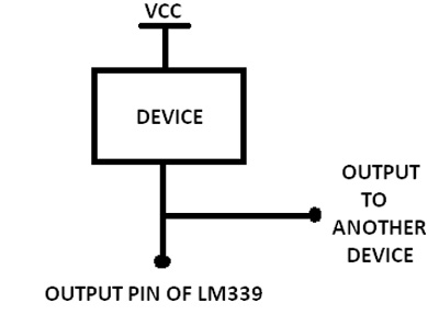 Image showing Circuit Connection of LM339 with a Device