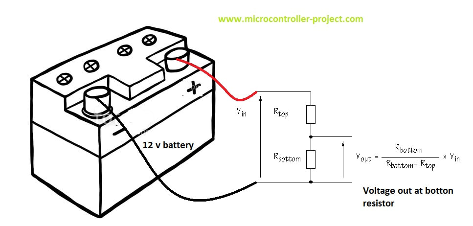 Voltage divider with battery circuit