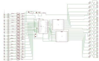 Plc with microchip pic microcntroller Circuit diagram- Made in Proteaus