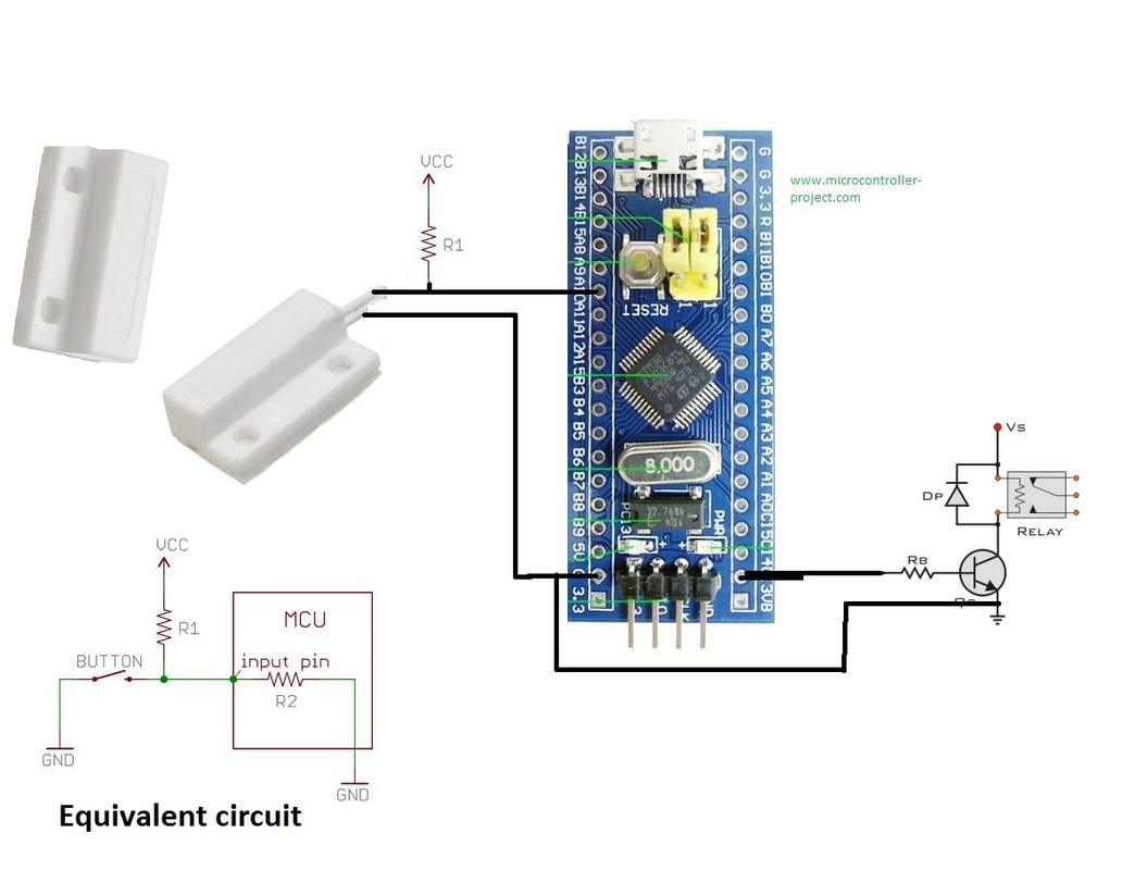 stm32f103 reed switch door alarm circuit