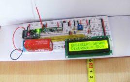 Wireless distance measurement using ultrasonic sensor