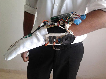 Sign Language Glove with Voice Synthesizer