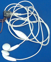 Typical Image of Mobile Headphone with Female Audio Jack