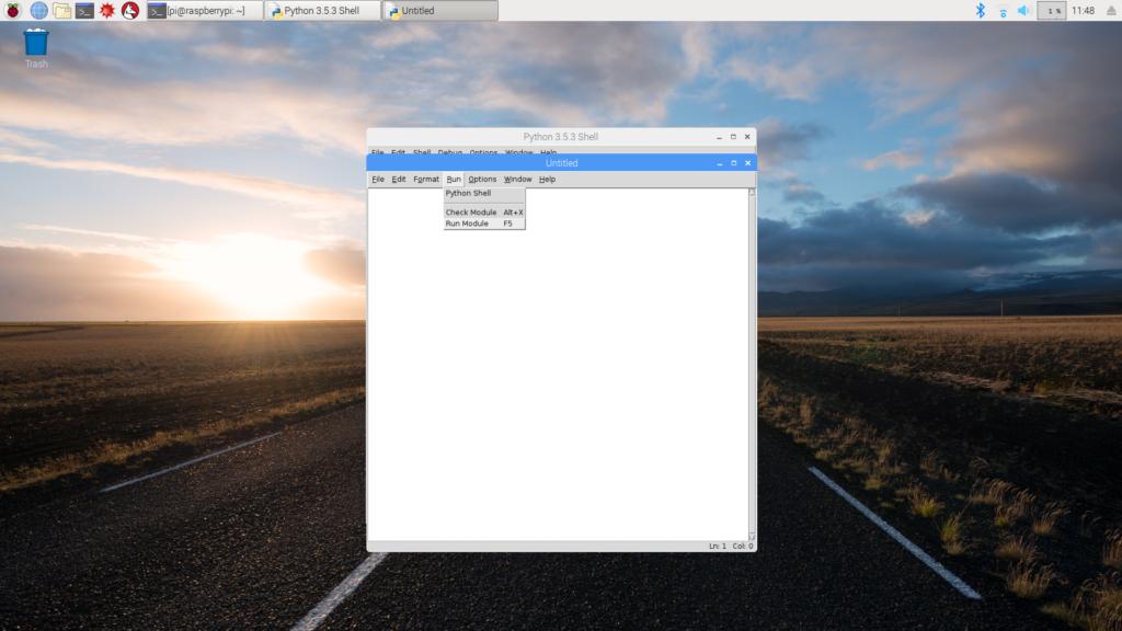 Running Python script on IDLE in Raspbian